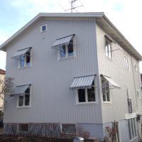 Dukbyte fönstermarkis före